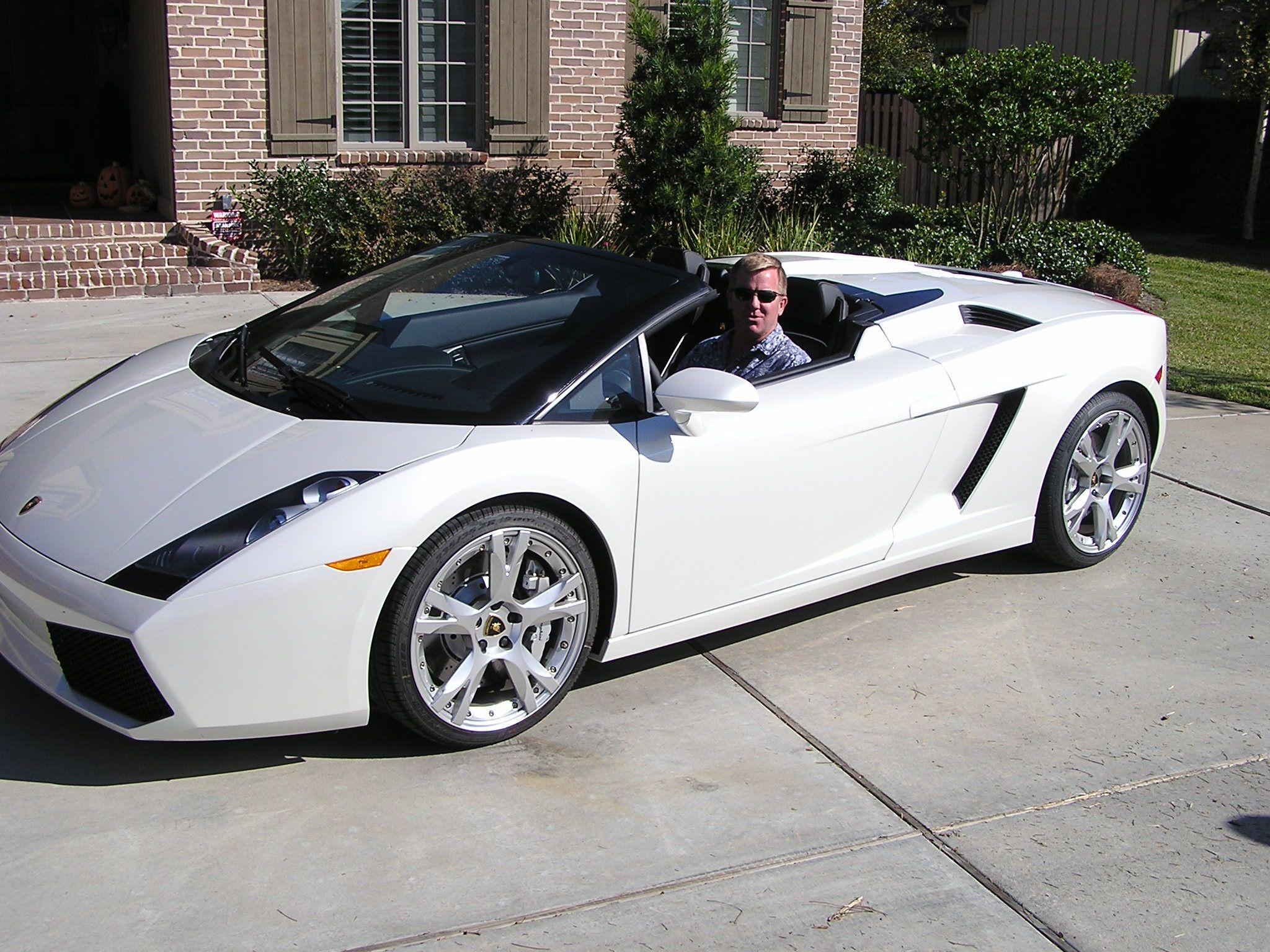 2007 Lamborghini Gallardo Spyder Egear Pearl White Cars I Ve