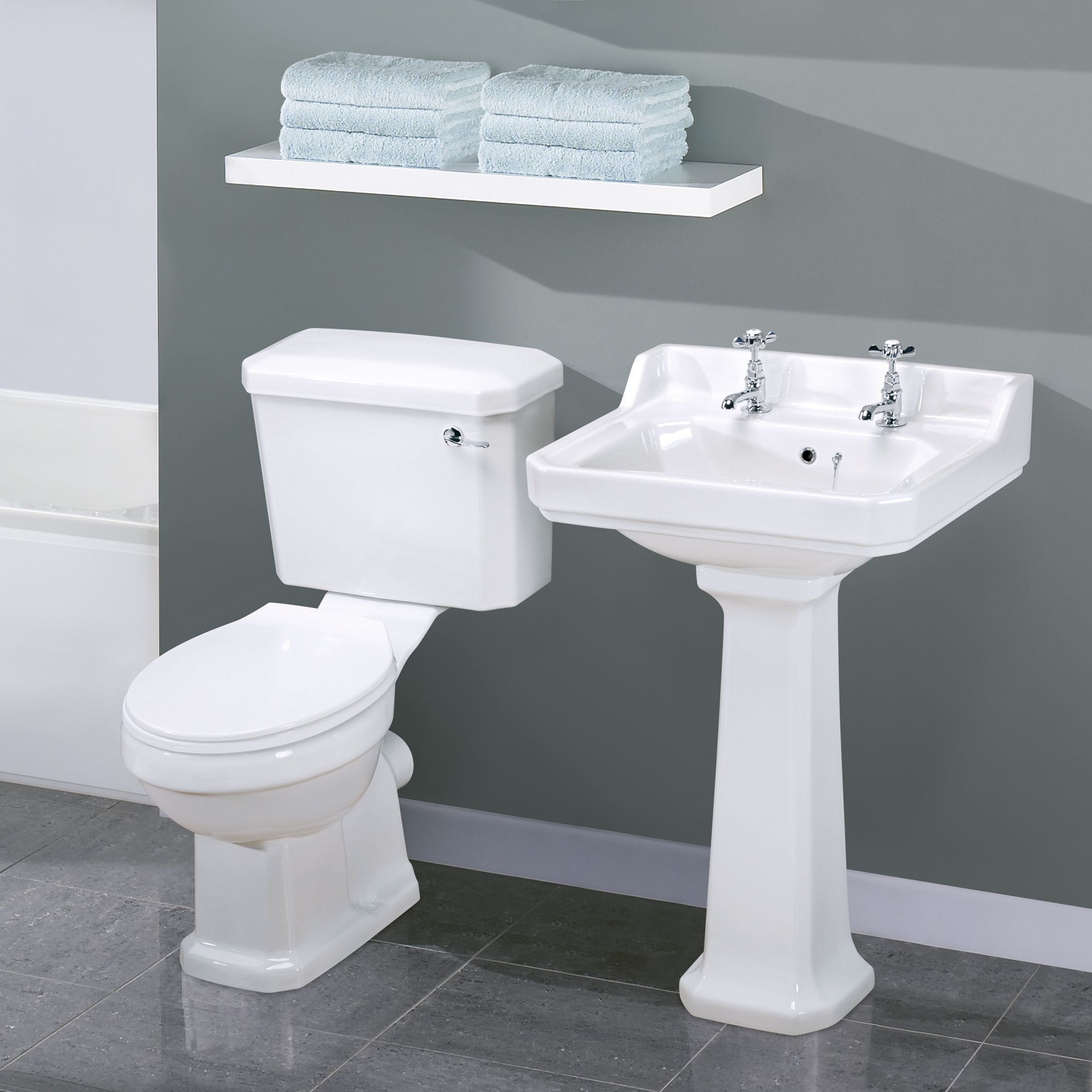 Wonderful Carlton Traditional Toilet And Basin Set One Should Think About Who And How  Easy These