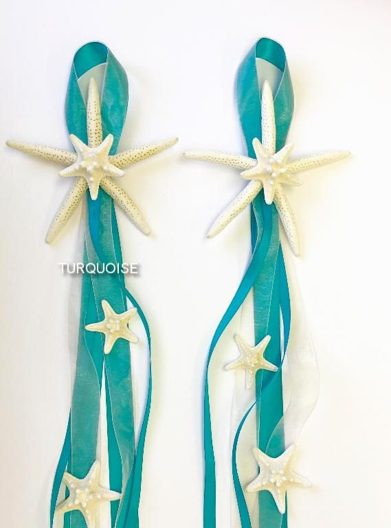 Beach Wedding   Set Of 10 Chair Decorations Decorate Your Beach Wedding Or  Event With These Beautiful Natural Starfish Decorations!
