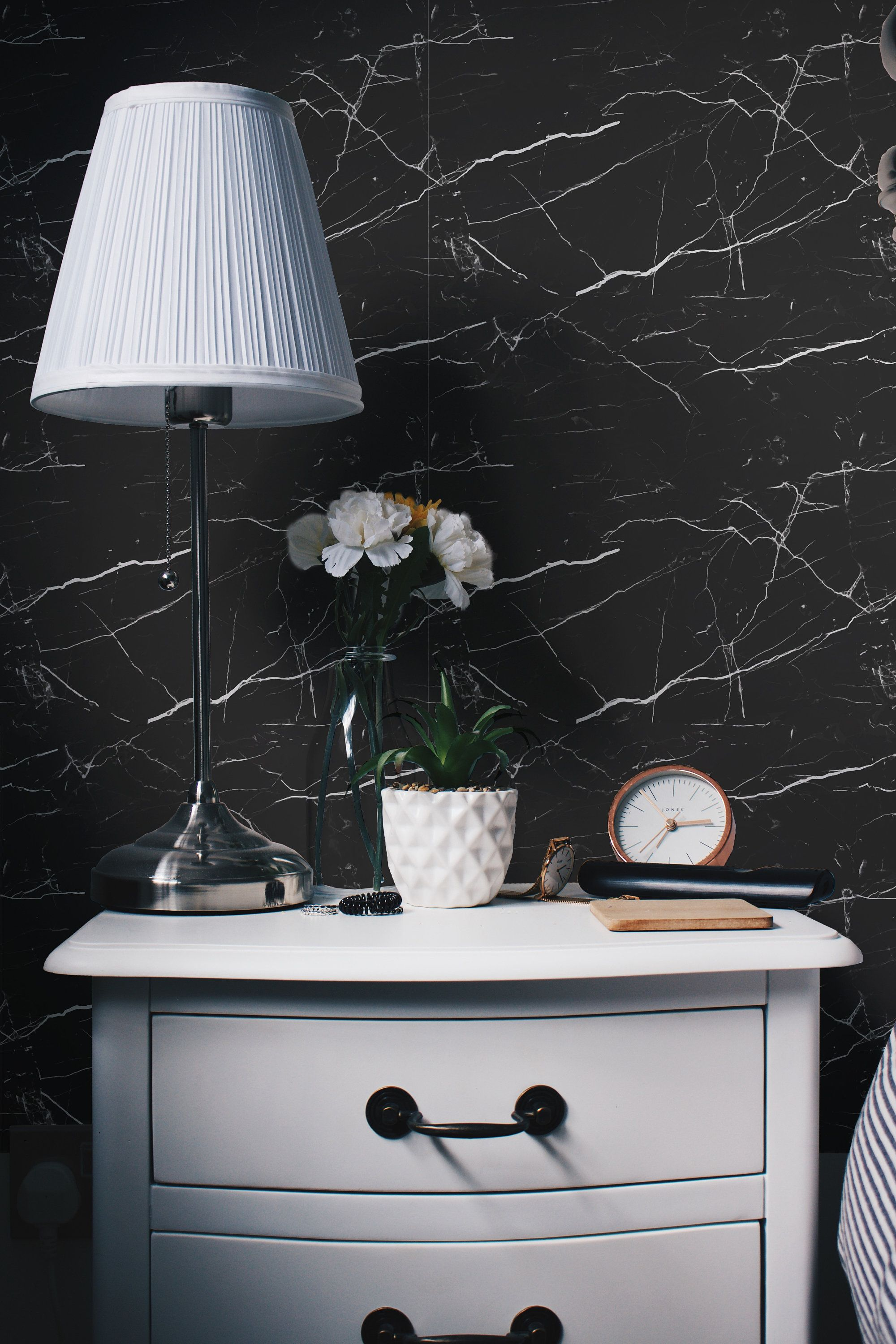 Black Marble Self Adhesive Wallpaper Black And White Marble Etsy Marble Wall Mural Stone Wallpaper Marble Wall