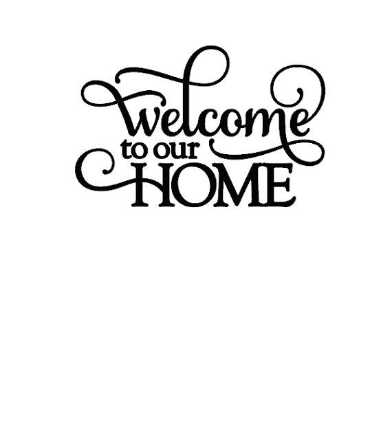 Our Home From Scratch: Welcome To Our Home Wall Decal On Etsy, $10.50