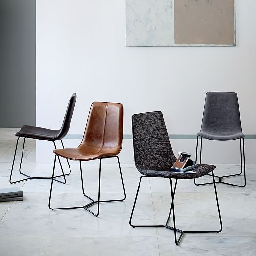 Slope Leather Dining Chair | Dining, Dining chairs and Dinning room ...