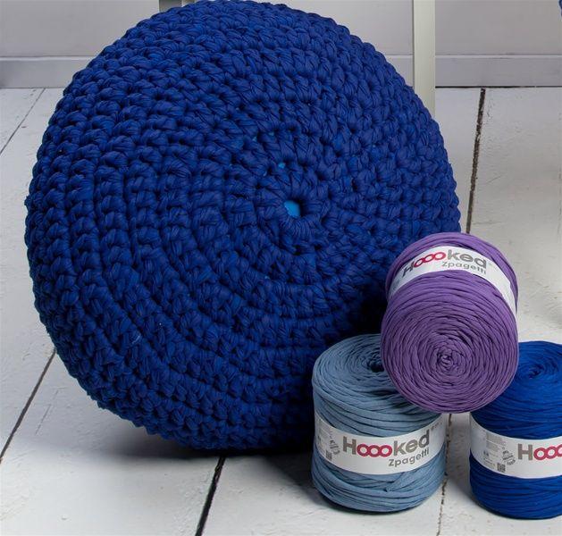 Muster Zpagetti Pouf Sitzkissen | Hoooked | Häkeln - Crochet ...