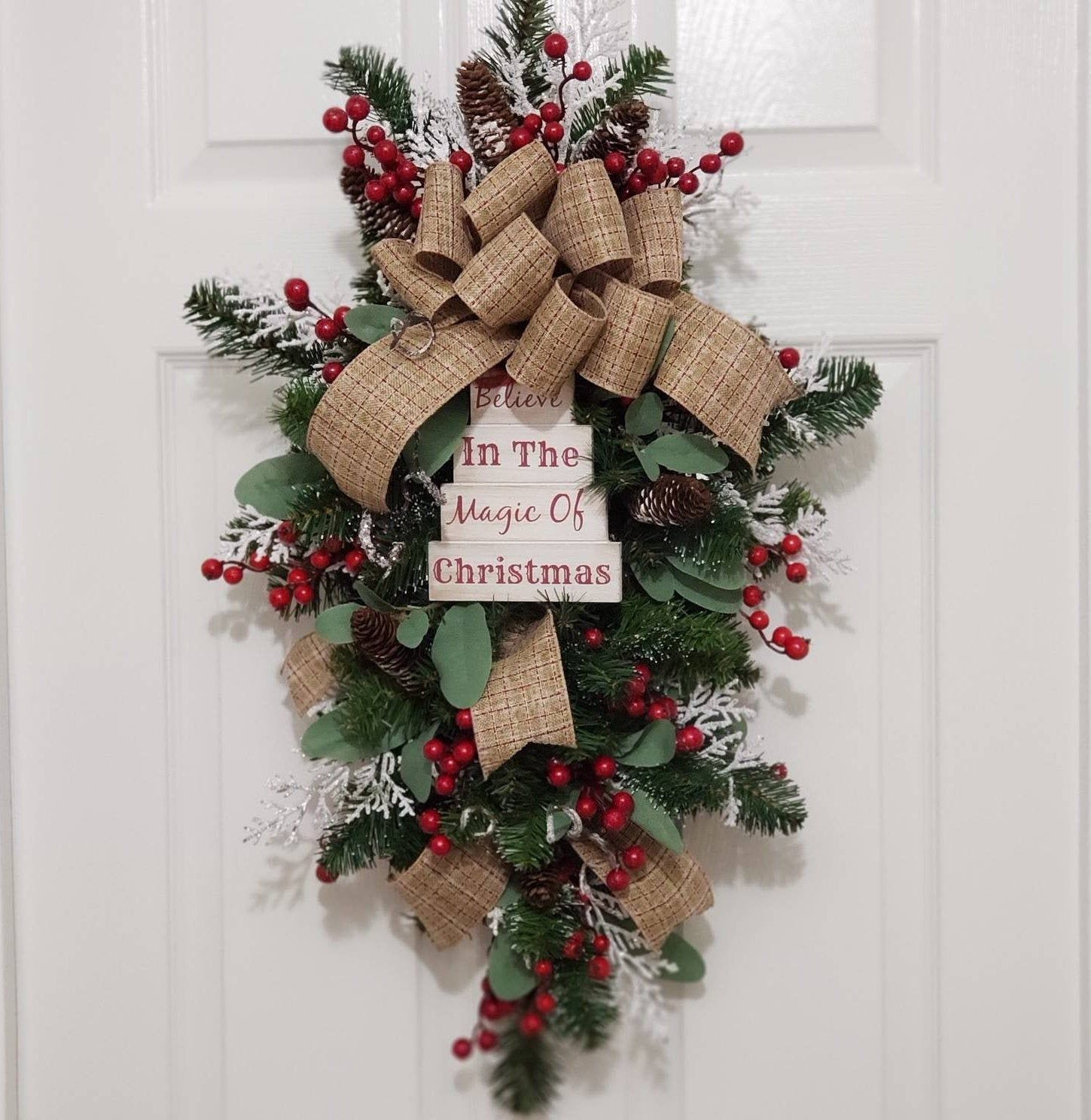 Country Christmas Swag Christmas Swag For Front Door Holiday Swag Christmas Swag Pine Cone Swag Rustic Ch Christmas Decorations Christmas Wreaths Holiday Decor