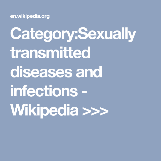 Sexually transmitted infections wikipedia