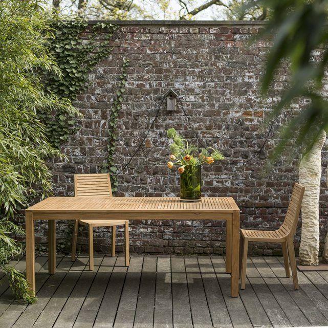 Table d\'extérieur en bois de teck 180 Teo TIKAMOON | jardin ...