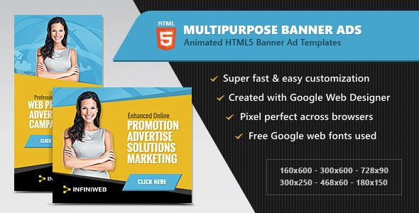 html5 ads multipurpose animated banner templates banner template