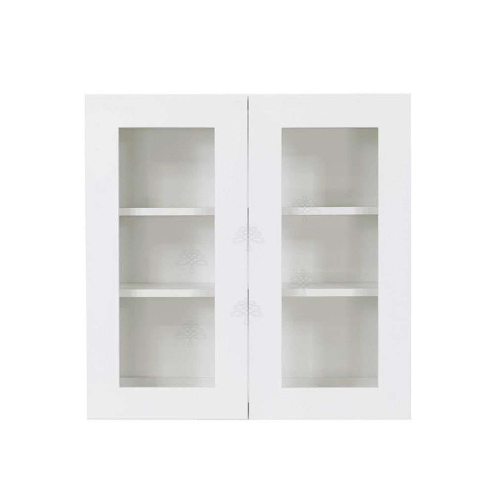 Lifeart Cabinetry Shaker Assembled 27x42x12 In Wall Mullion Door Cabinet With 2 Door 3 Shelf In White Alw Wmd2742 Kitchen Cabinet Manufacturers Cabinet Manufacturers Furniture Grade Plywood