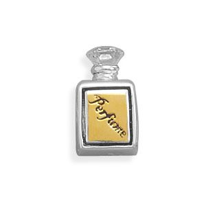 Sterling Silver Two Tone Perfume Bottle Bead 51301