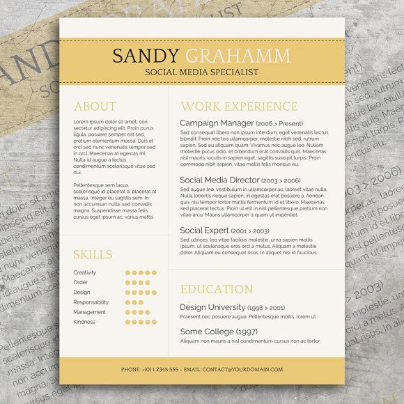 Professional Cv  Cover Letter By Visual Impact On MywpthemesXyz
