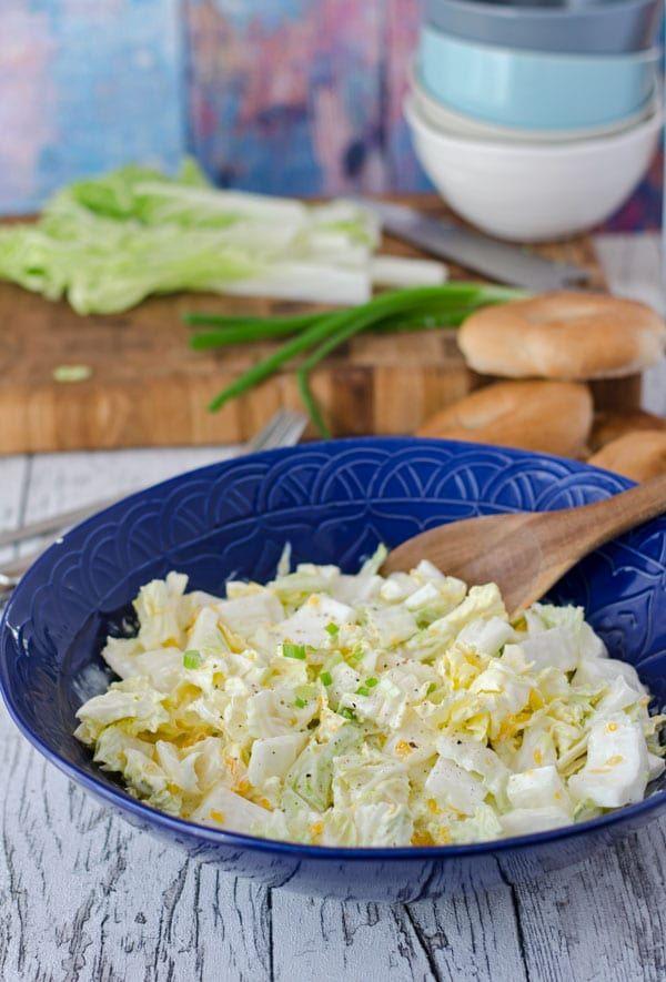 chinakohlsalat mit mandarinen rezept blogger rezepte salat salat rezepte und grillen. Black Bedroom Furniture Sets. Home Design Ideas