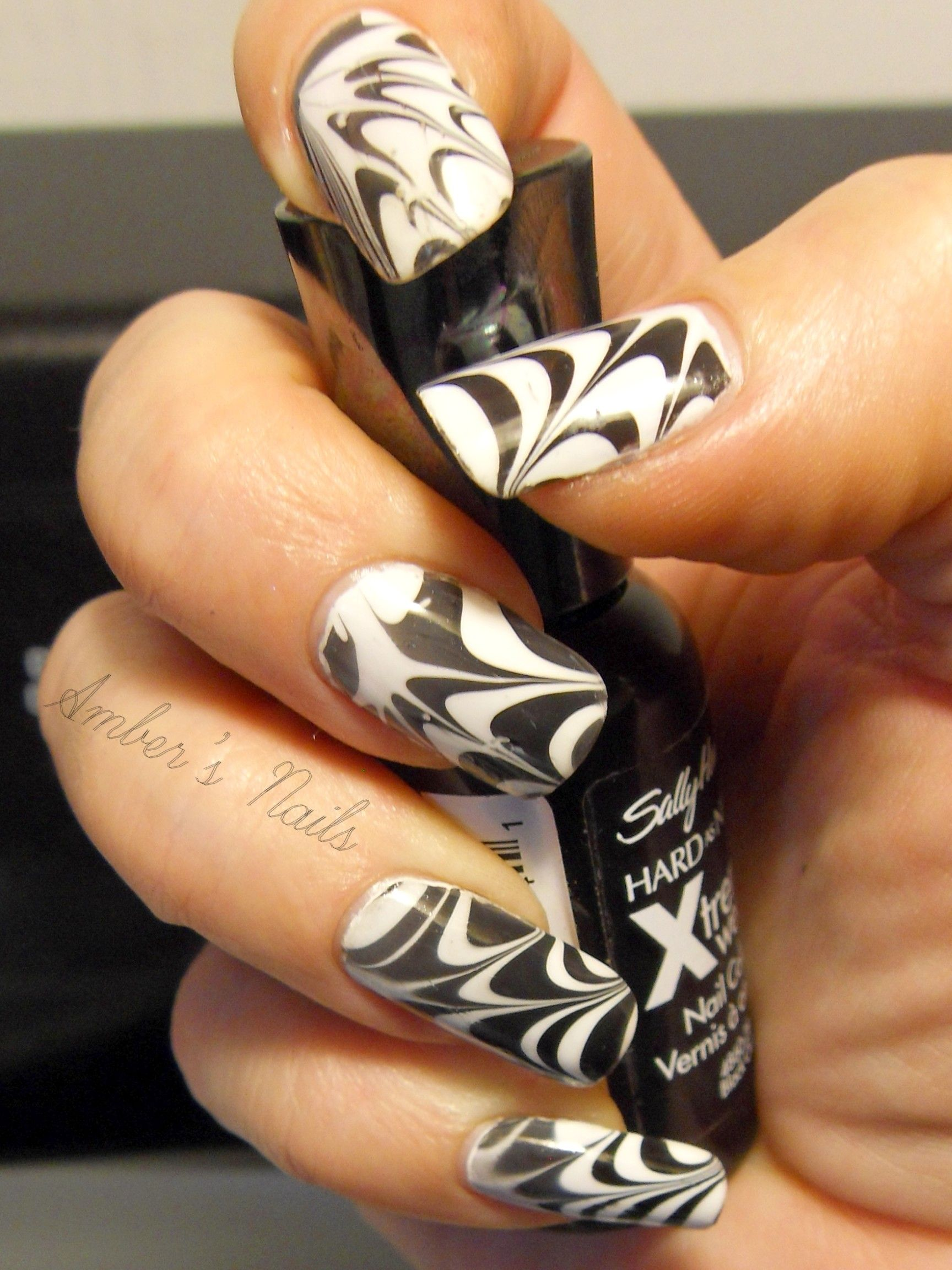 Black And White Spider Web Water Marble Inspired By ...