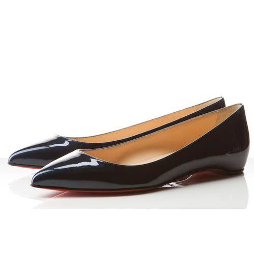 chaussures de sport 26af5 8d17c Christian Louboutin Chaussures Pigalle Plat Peacock Noir ...