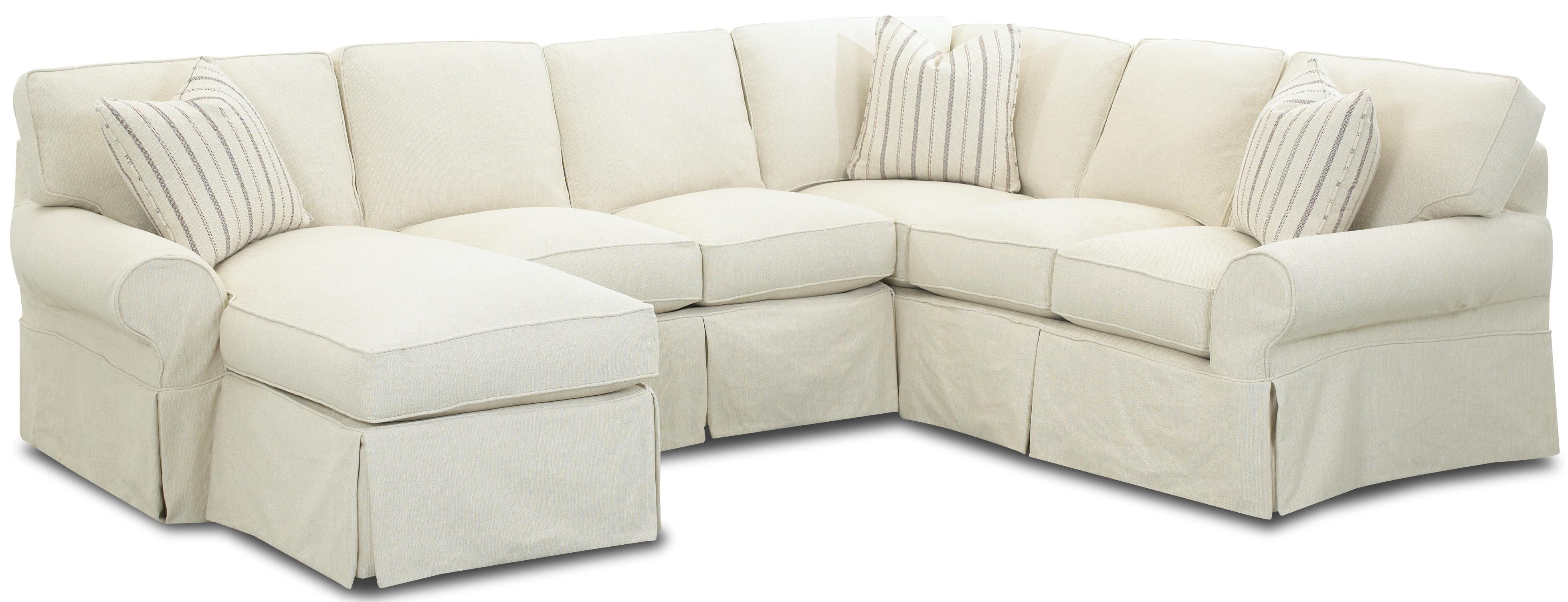 Attirant Slipcover Sectional Sofa With Chaise