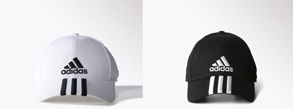 Adidas Running Training Cap Performance 3-Stripes White Black S20461 S20460 d4bbb98e229da