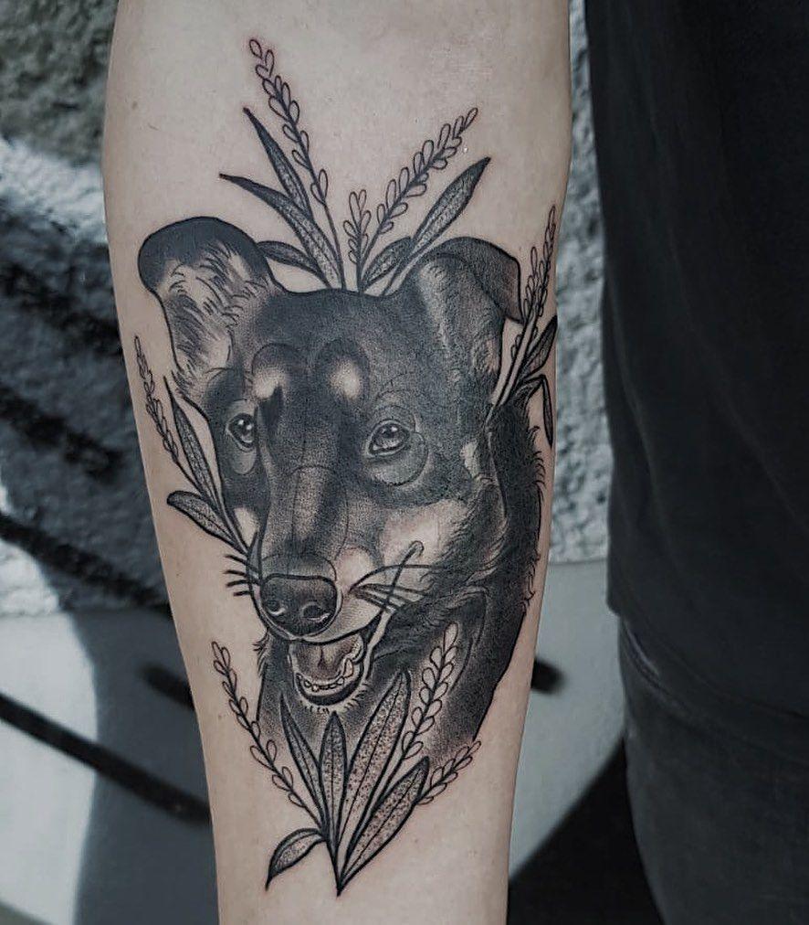 Dog by Marc (@marcguthe) // #leipzigtattoo #leipzig #tattoo #leipzigtattooartist #blackwork #inked #tattoos #tttism #berlintattoo #tattooleipzig #germantattooers #blackworkers #blackworkerssubmission #leipzigram #tattooart #blkttt #blxckink #tattookulturemagazine #undergroundtattooers #tattooartist #tattoolife #darkartists #blckscratches #tätowiermagazin #blackink #brutaltattoo #leipzigcity #blackandgrey