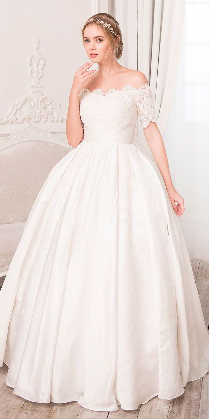 Rania hatoum spring wedding dresses lace applique ball gowns
