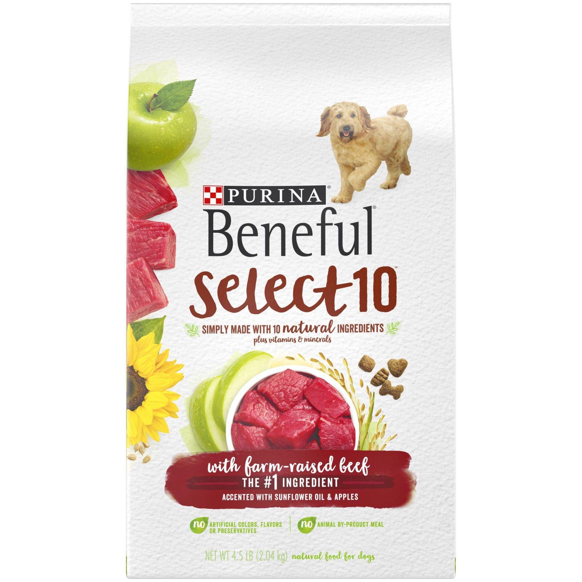 Beneful Select Dry Dog Food Beef Flavor 4 5lb Dry Dog Food