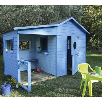 La cabane en bois dans le jardin les enfants adorent ! Pallets