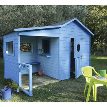 la cabane en bois dans le jardin les enfants adorent. Black Bedroom Furniture Sets. Home Design Ideas