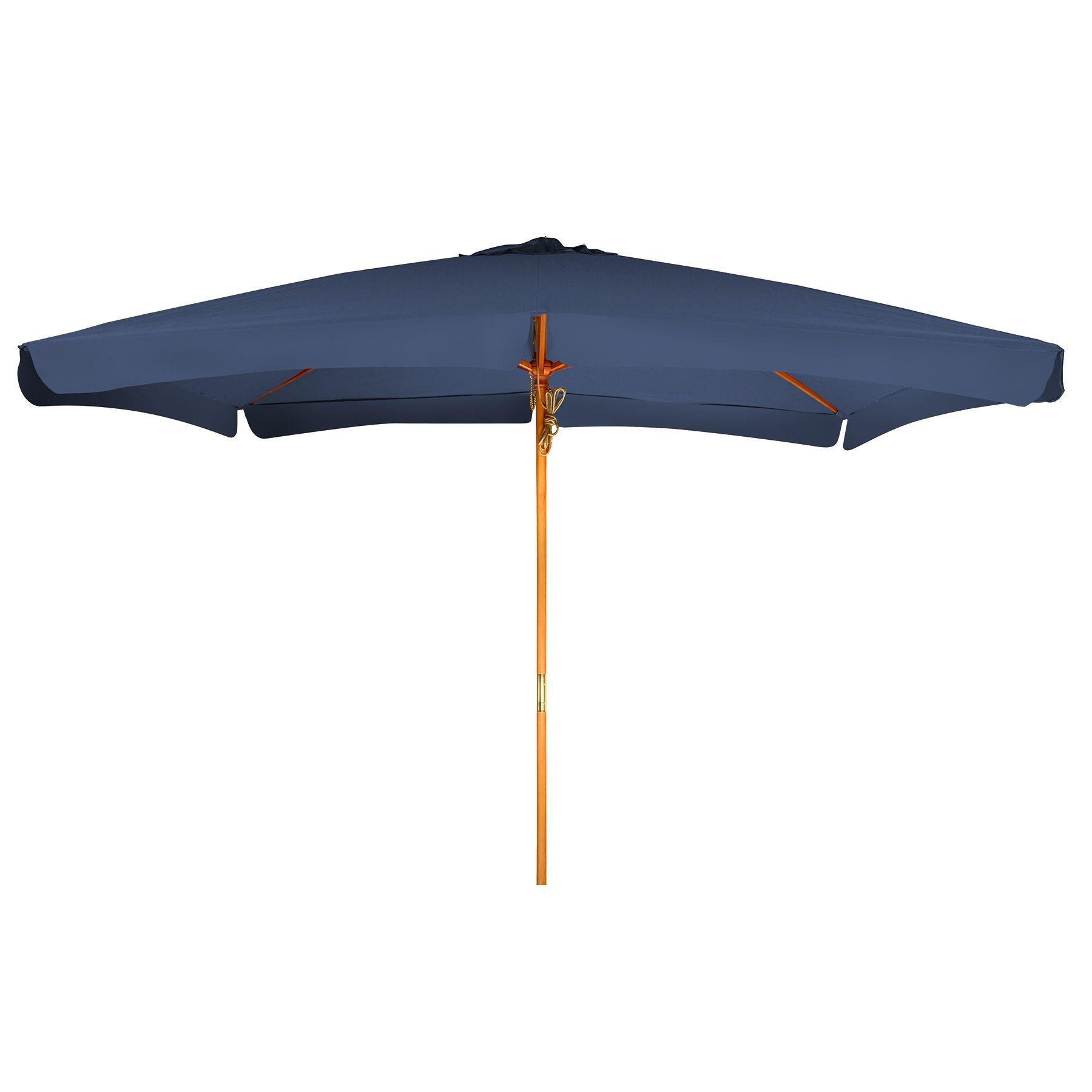 10u0027 Rectangular Wood Frame Patio Umbrella By Trademark Innovations (Blue),  Size 10 Foot (Polyester) #UMBWOOD RECT P