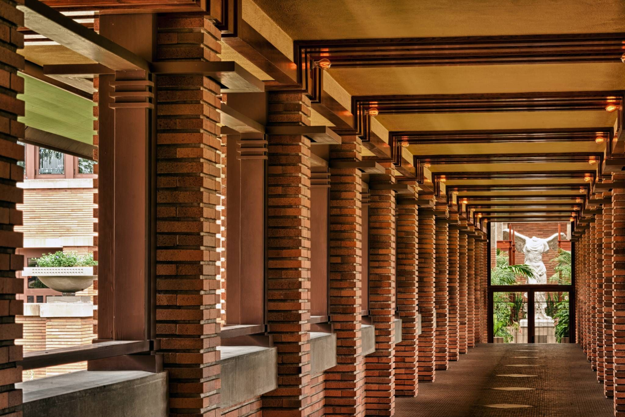 Darwin Martin House Pergola Frank Lloyd Wright Design Martin House Darwin Martin House Frank Lloyd Wright