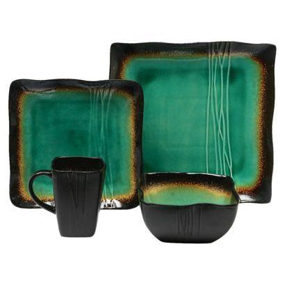 Galaxy Jade 16 Piece Dinnerware Set  sc 1 st  Pinterest & Baum Bros. Galaxy Jade 16 Piece Dinnerware Set | Dinnerware Cabin ...