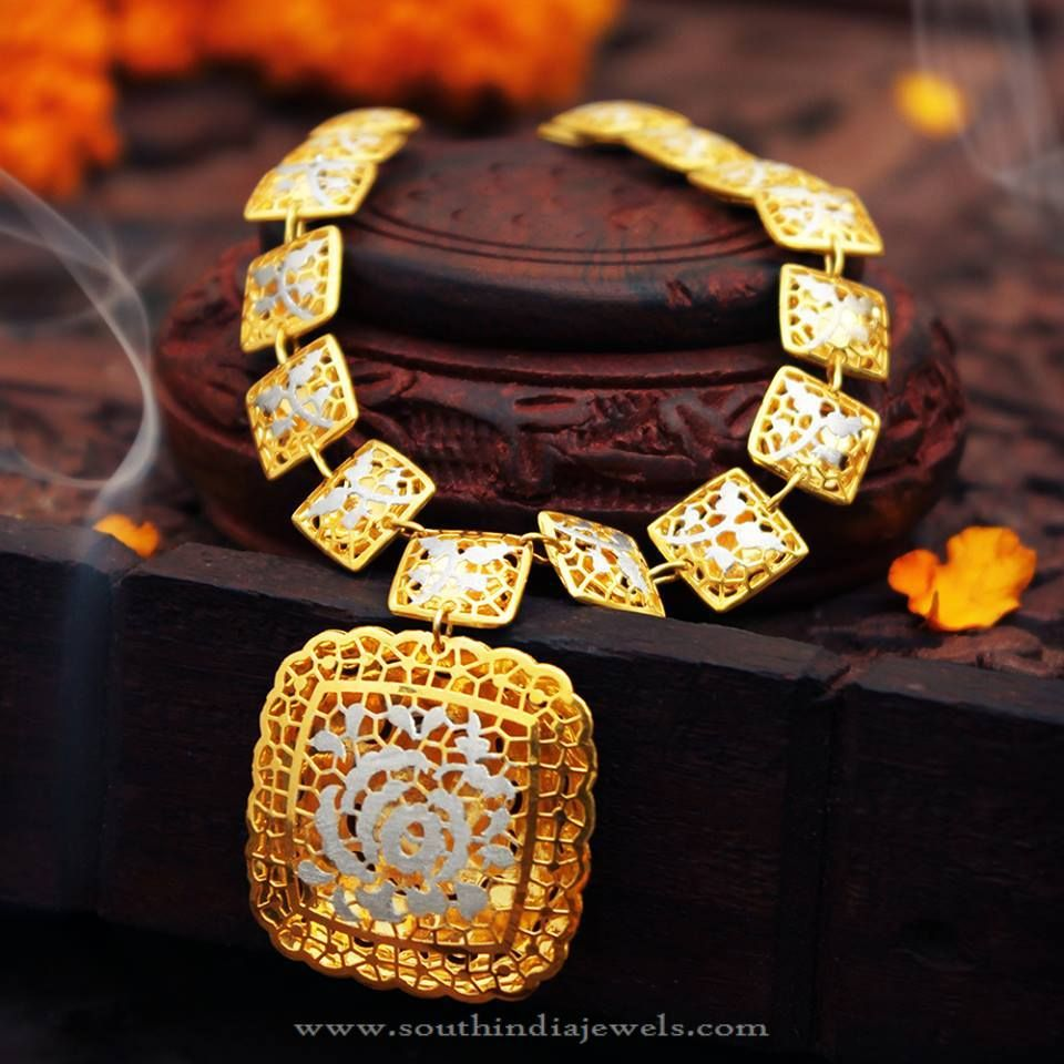Pai jewellers gold necklace designs latest indian jewellery designs - Gold Designer Necklace Designs Gold Fancy Necklace Designs Latest Model Designer Necklace