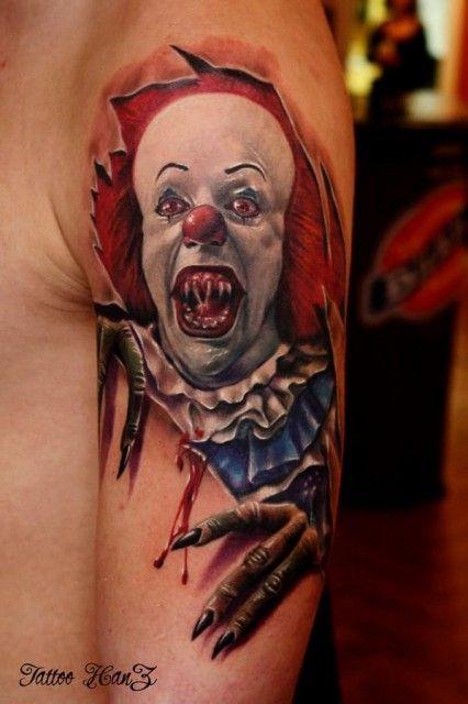 49a46e74b6b4f Pennywise the clown,from steven kings IT | tattoos | Clown tattoo ...