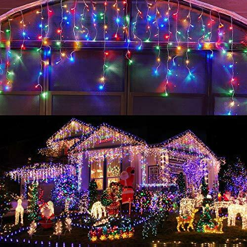 Led Icicle Lights Outdoor Christmas Decorations Lights 400led 8 Modes Icicle Ch In 2020 Outdoor Christmas Decorations Lights Icicle Lights Outdoor Outdoor Christmas Decorations