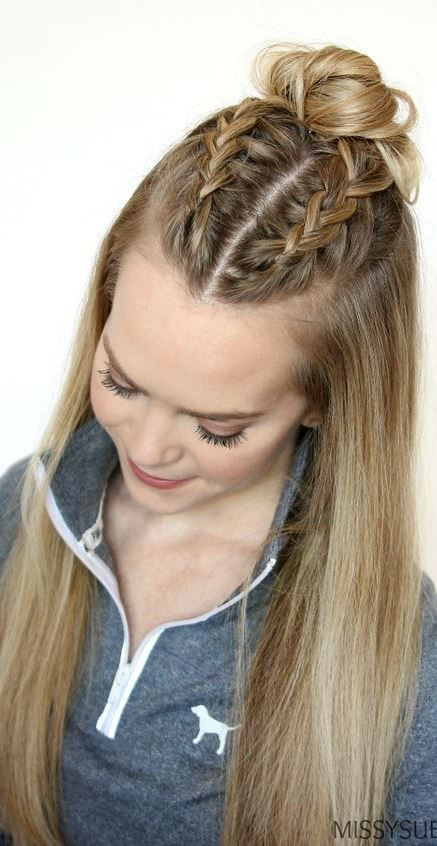 Classy And Simple Hairstyle Ideas For Thick Hair Hairinspiration Petercoppola Braidedhair Sporty Hairstyles Thick Hair Styles Medium Hair Styles