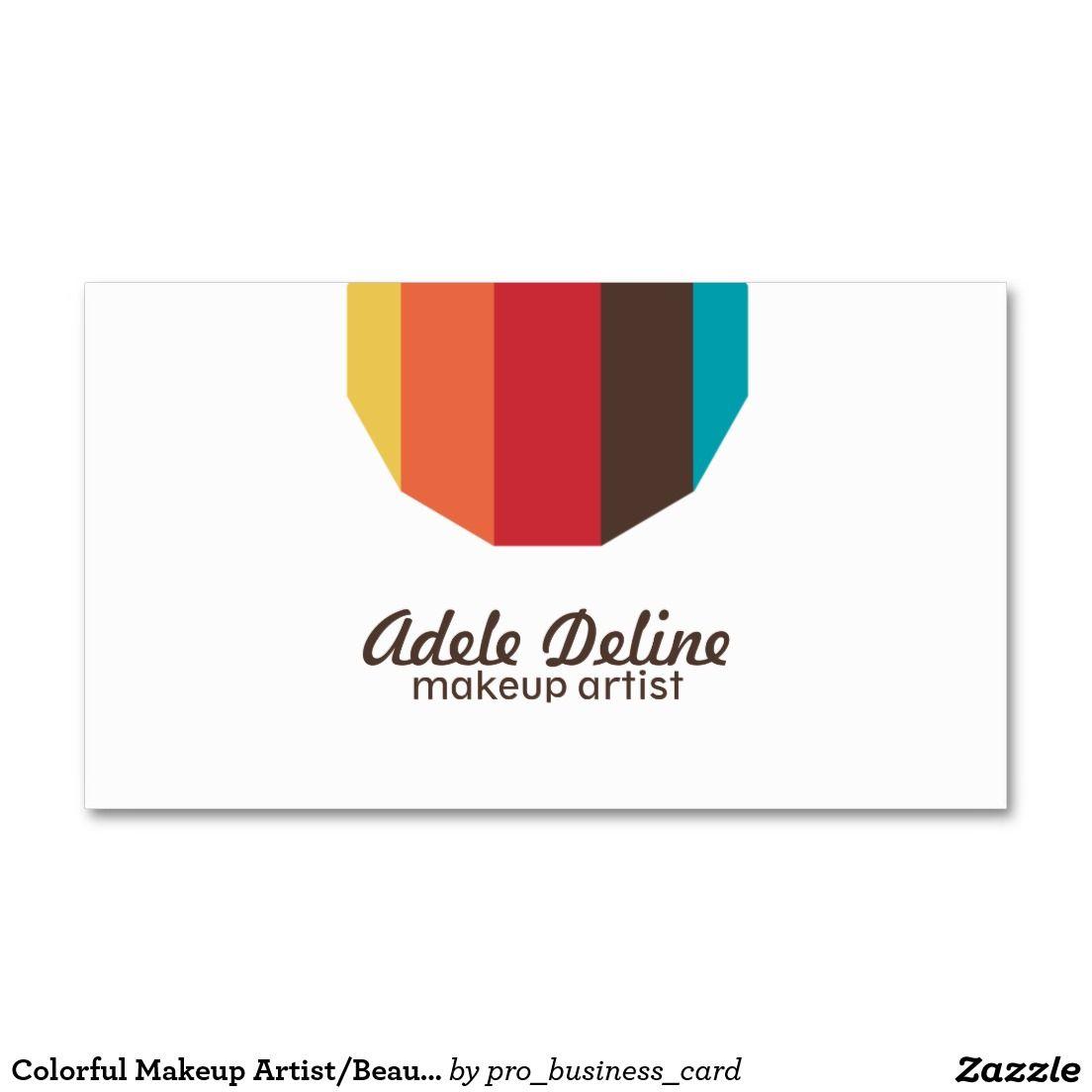 Colorful Makeup Artist/Beauty Salon Business Card Pack Of Standard ...