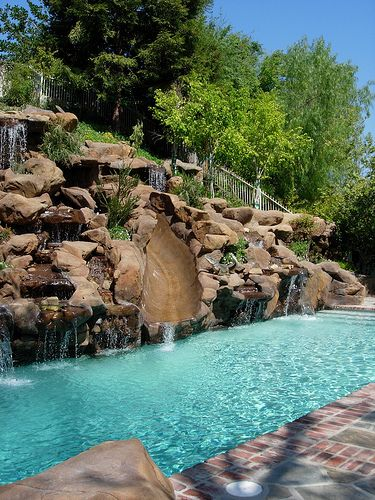 Ultimate Water Creations - Waterfall Examples Pool Designs