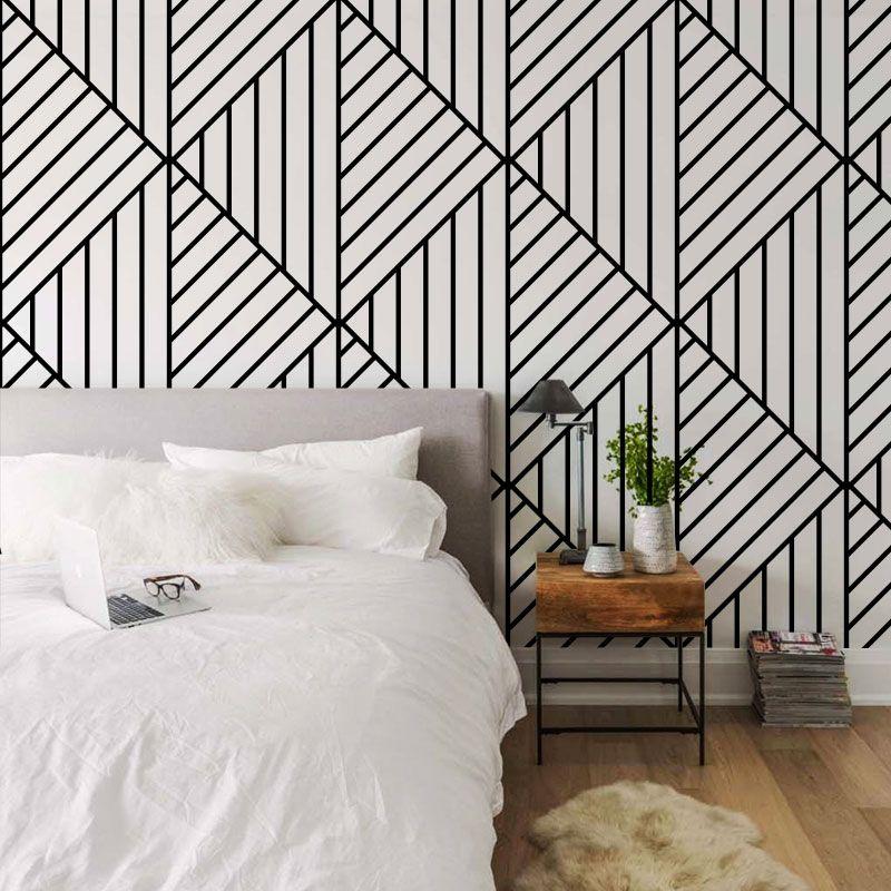 Decoracion De Recamaras Wallpaper Papel Tapiz Rayas Match Paper Papel Tapiz Para Recamaras Decoracion Recamara Decorar Dormitorios