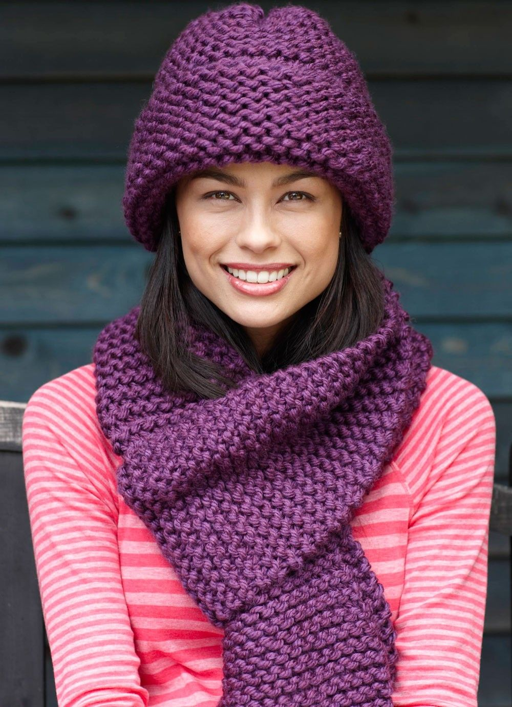 Beginner Scarf Pattern (Knit) | вязаные шапки | Pinterest | Scarf ...