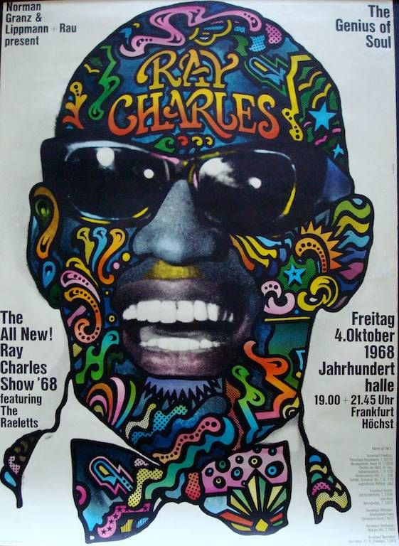 Ray Charles The Genius Soul Music Poster Canvas Modern Art ~ 5 Size to Choose
