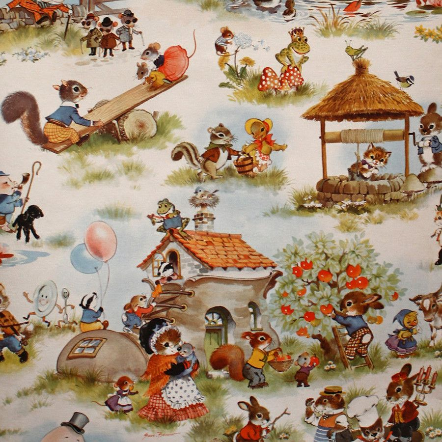 Stunningly Detailed Vintage Nursery Rhyme Wallpaper Bay Home