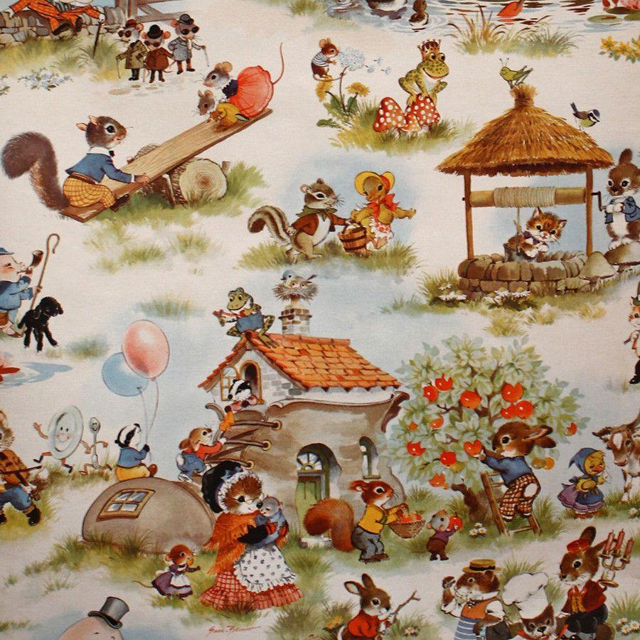 Stunningly Detailed Vintage Nursery Rhyme Wallpaper Bay Home