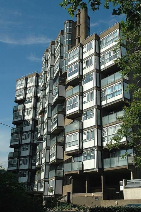 Lambeth Towers, London SE11 Architect: George Finch - Completed: 1968