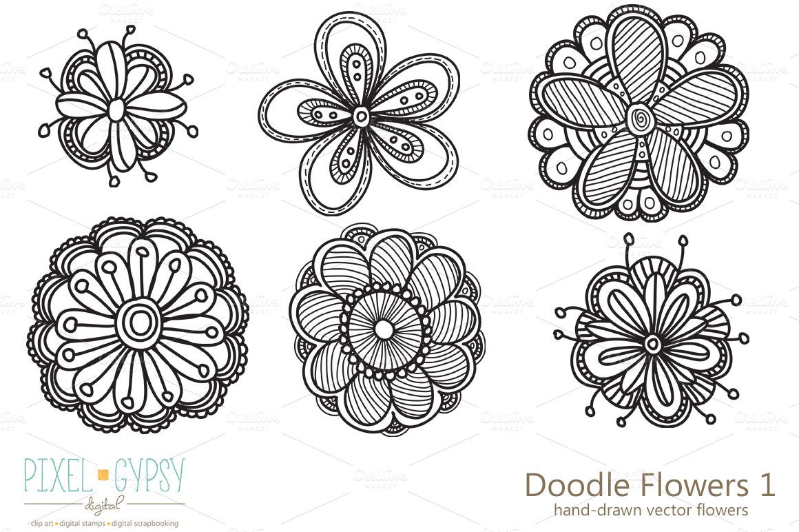 Doodle Flowers Interests Pinterest