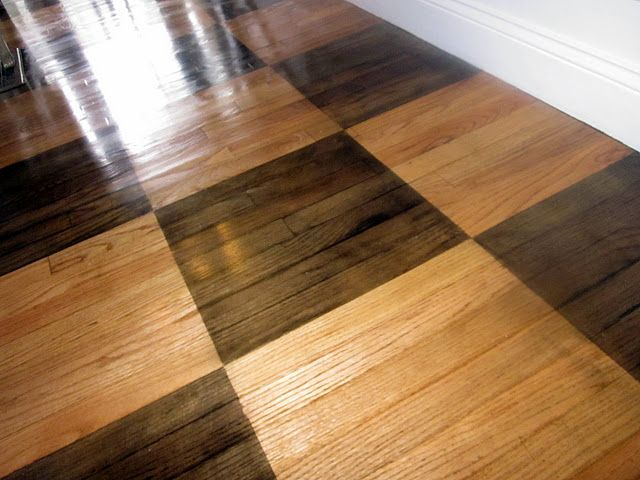 Checkerboard Wood Floors Home Inspiration Pinterest