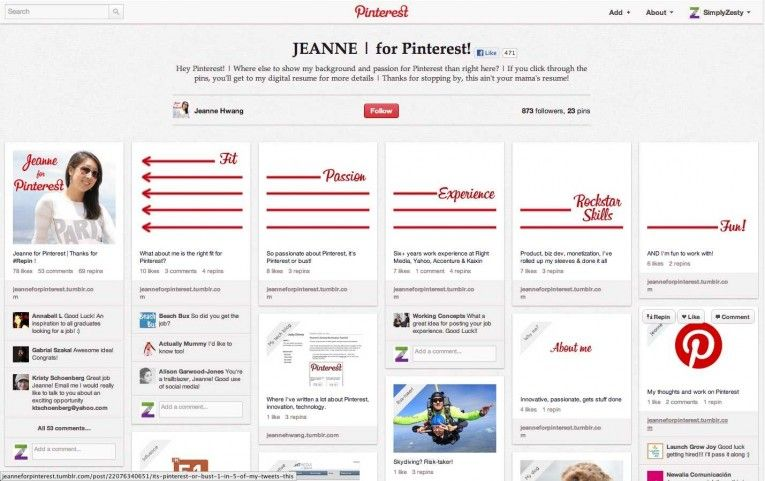Using Pinterest As A CV, and other creative uses of social