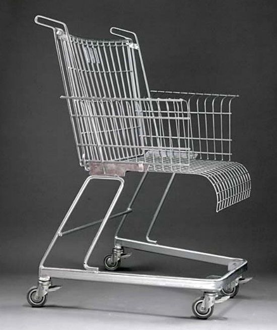 Shopping Cart Chair | Coole stühle, Umfunktionierte
