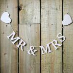 Houten slinger Mr & Mrs