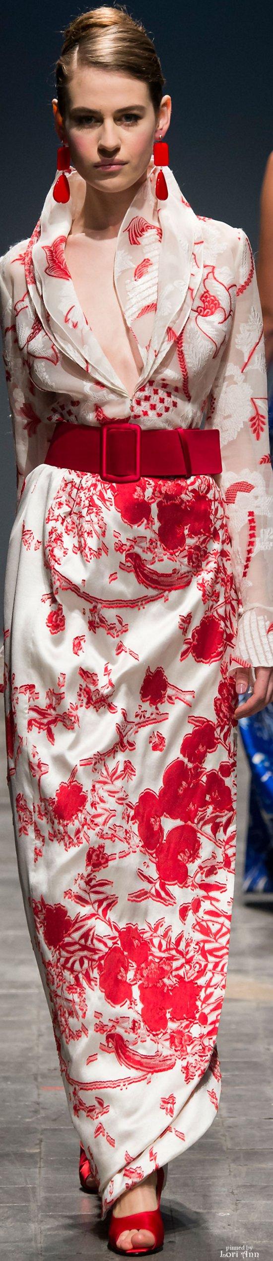 CREMA Y ROJO....❤ | Rouge | Pinterest | Rojo, Vestido largo y ...