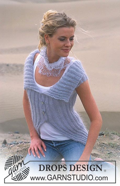 Cardigan Vest With Cap Sleeves Making This Now In Purple Yarn A