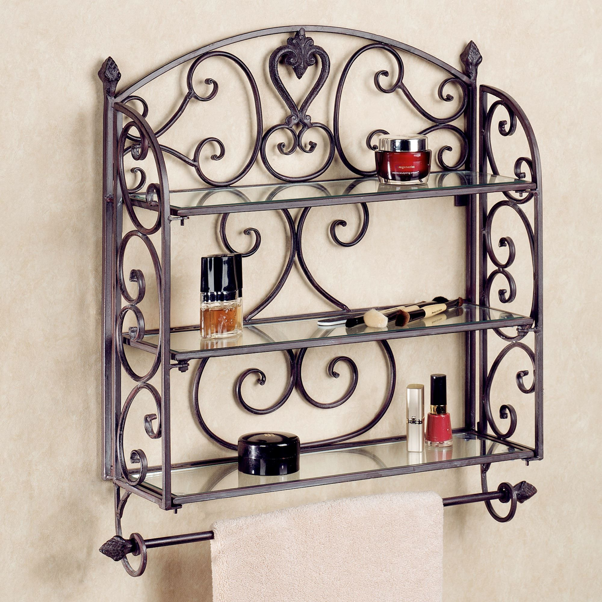 Aldabella Tuscan Slate Wall Shelf Towel Bar | Slate, Towels and Shelves