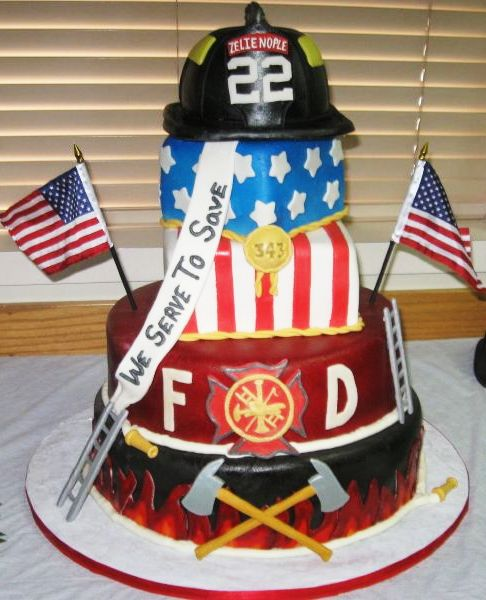 Firefighter Wedding Themes Ideas: All-American Firefighter Cake