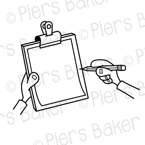 ClipboardBlankWritePenDraw — SVG Doodle Whiteboard