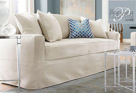 Sure Fit Slipcovers Premier Acadia Separate Seat Petite Sofa Slipcovers    Petite Sofas Why Cant This